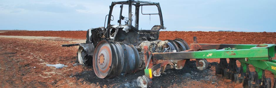 Exploded Tractor - Fire & explosion investigation in Texas