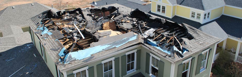 Roof with a Hole Caused from Burning in a Fire - Fire & explosion investigation in Texas